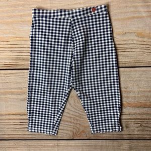 Zara navy blue checked cropped pant size 7